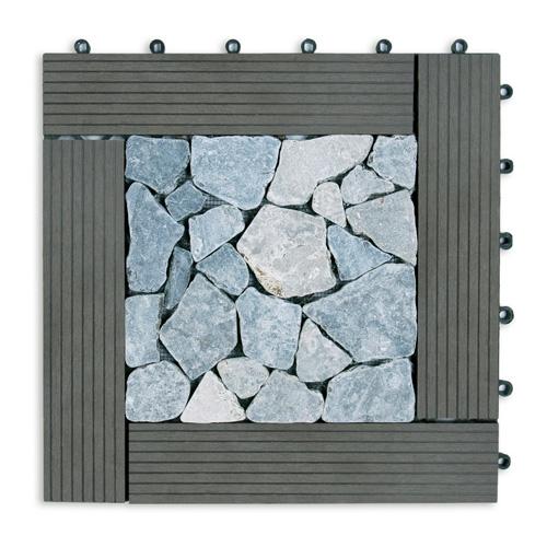 Ubin 40 40 Grey Composite XL Mosaic Abu Abu Terang