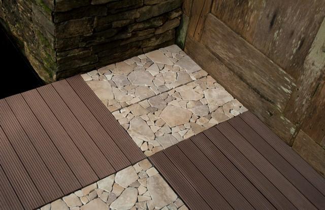 Interlocking Garden deck Tile from Indonesia WPC