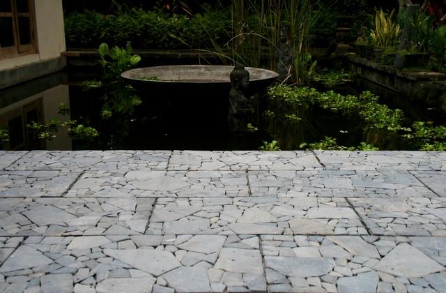 Ubin Kayu Mosaic untuk Kolam Renang dan Taman
