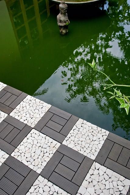Interlocking WPC Decking tile from Indonesia