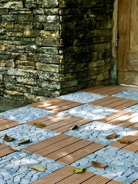 Mosaic Stone interlocking Deck tile 30x30