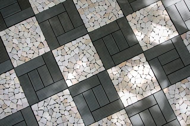 Ubin Taman Sambung Wood Plastic Composite dan Mosaic Batu from Indonesia