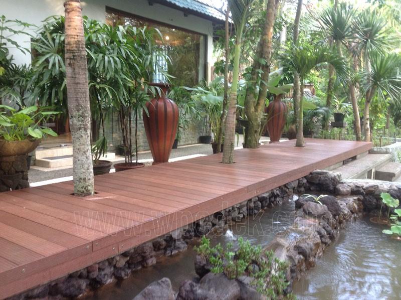 WPC Deck untuk Spa, Bali Indonesia