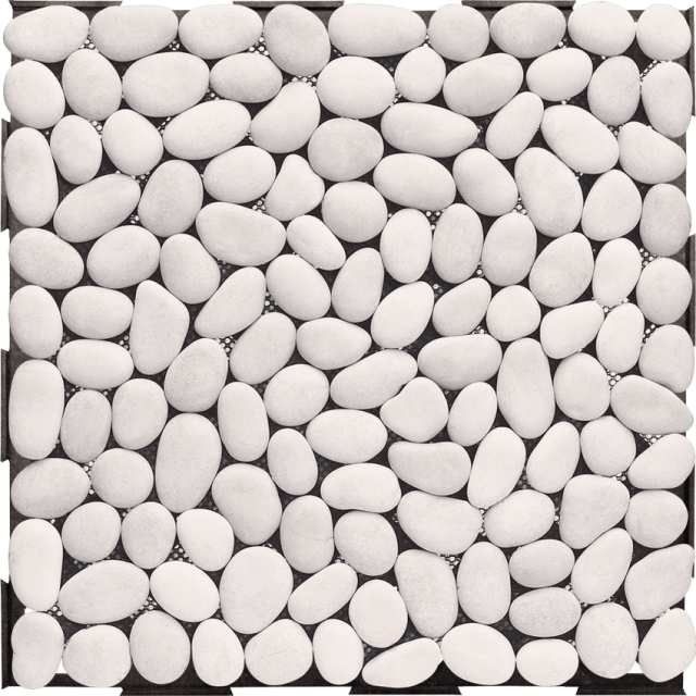 White Pebble Stone Interlocking Garden Deck Tile