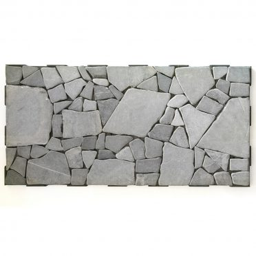 Grey Stone Mosaic Interlocking Garden Tile