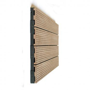 Oak Brown WPC Interlocking Garden Deck Tile