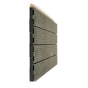 Ebony Gray Interlocking Garden Deck Tile