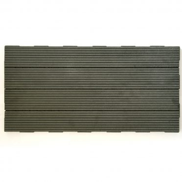 Ebony Gray WPC Interlocking Garden Deck Tile