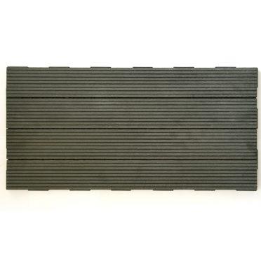 Ebony Gray WPC Interlocking Garden Deck Tile