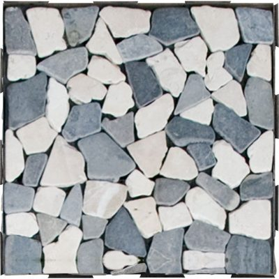 Mixed Mosaic Stone Interlocking Garden Deck Tile